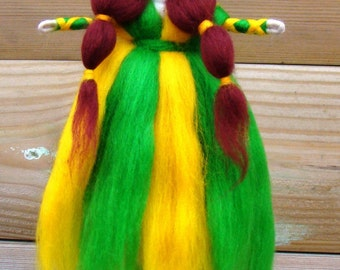 Buttercup Waldorf princess Christmas elf felted Angel Nature table Natural fibre fairy Waldorf fairy Eco friendly fairy elf kendal fairies