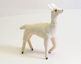 Vintage Inspired Spun Cotton Llama Ornament/Figure (MADE TO ORDER)