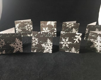 "Snowflake Mini Card set of 8 Blank 2"" Cards"