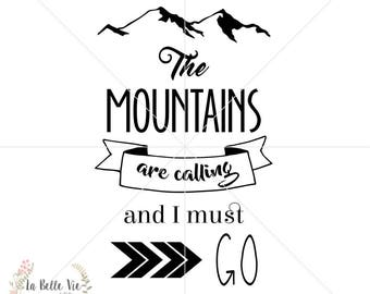 The Mountains are Calling SVG & PNG file