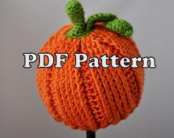 PDF PATTERN - Crochet Little Pumpkin Hat