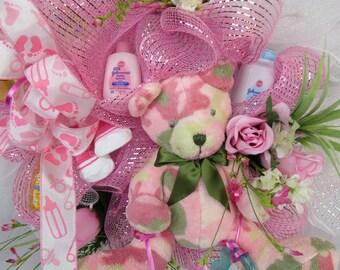 Baby Girl Wreath, Baby Shower Wreath