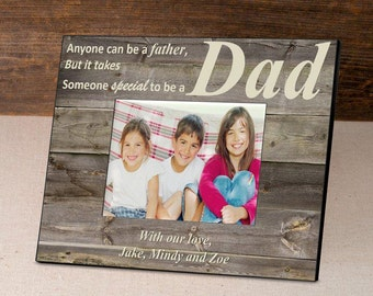 Personalized Father's Day Frame - Personalized Frame - Husband Gifts - Father's Day Gift -  GC1273 BARNWOOD/CREAM
