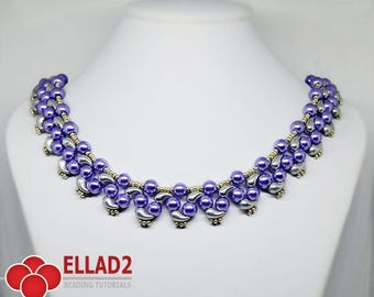 Tutorial Prisha Necklace - Beading tutorial with Zoliduo beads, Jewelry tutorial, Instant download, design by Ellad2