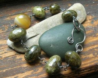 Sunshine and Moss bracelet