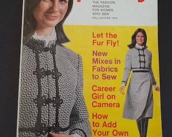 Original Vintage  1970 Simplicity Sewing Fashion Catalog magazine