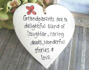 Grandparents are a delightful blend plaque , Grandparent quote, Grandparent gift