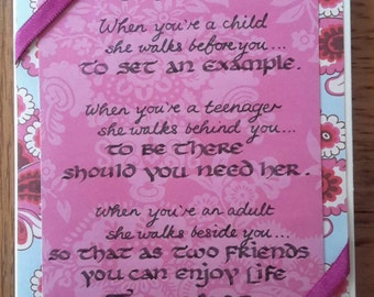 Hand written Mother's Day card