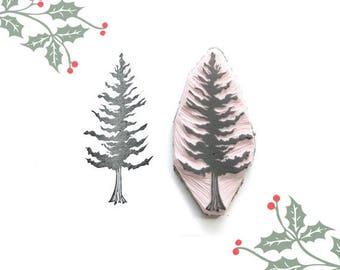 Christmas Pine Tree Stamp | 001002