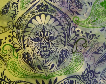 Zen Blue Cotton Fabric Sold by the Yard