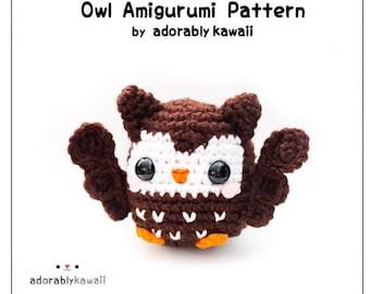 Owl Amigurumi Crochet Pattern, Bird Amigurumi Pattern, Owl Nursery Toy, PDF Animal Crochet Pattern, Baby Crochet Pattern, DIY Cute Owl Doll