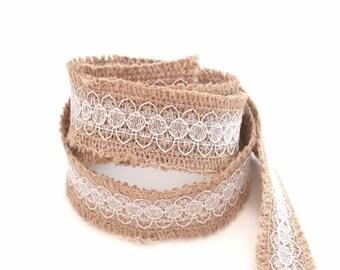 Burlap Ribbon and lace