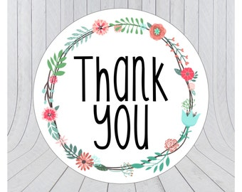Thank you stickers, thank you labels, packaging stickers, packaging labels, wedding stickers, 003