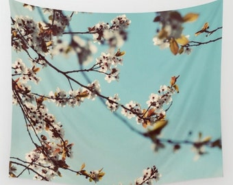 Cherry Blossom Wall Tapestry / Plum Blossom Tapestry / Printed Wall Tapestry / Modern Decor / Aldari Home