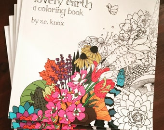 lovely earth adult coloring book