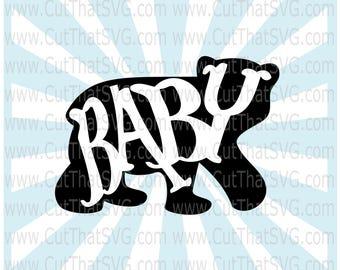 Baby Bear SVG, bear svg, baby bear, svg, dxf, png, bear, bear family, bears, mama bear baby bear, baby bear clipart, digital clipart