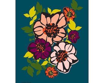Bouquet Flower Print 11 x 14 inches