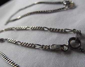 "Petite Dainty Sterling Silver Ankle bracelet Italy Sterling Silver Bracelet Anklet Ankle Bracelet 7"" Inch Bracelet"