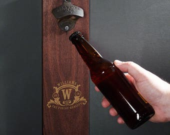 Personalized Westbrook Wall Bottle Opener - Unique Personalized Bottle Opener - Great Gifts for Men Brother Dad and Boyfriend