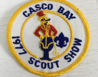 1977 Casco bay Scout show Boy Scouts of America Maine patch unused