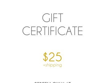 Gift Certificate to Fuzzy Love Knots for 25 Dollars