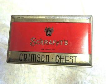 Schrafft's Candy Tin, Crimson Chest Candy Tin