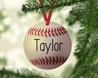 Baseball Ornament, Baseball Name Ornament, Baseball Christmas Ornament, Baseball, Personalized, Baseball Player Gift, Ornaments