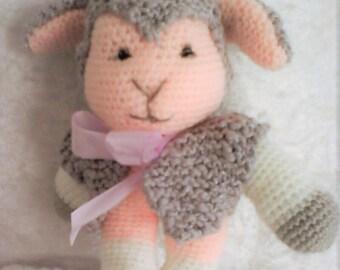 DOLLY, sheep plushie, handmade