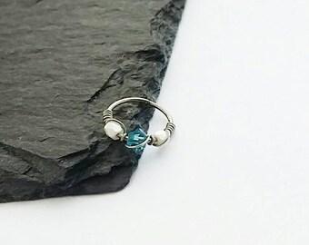 Nose Ring Hoop - Cartilage Earring - Helix Ring Hoop - Hypoallergenic Septum Ring - Forward Helix Earring - Tragus Hoop