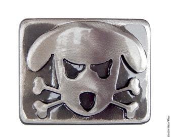Outlaw Doggy Belt Buckle -Spike- by WATTO Distinctive Metal Wear / Handmade Belt Buckle / Dog Belt Buckle / Dog Lover Gift / Puppy Buckle