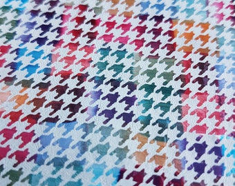 New - 7 sqft Colorful Square Weaved Effect Leather Cowhide - Genuine Leather Skin