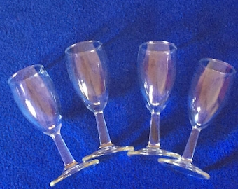 Shot glasse. Aperitif glasses. Set of four stemmed glasses for after dinner drinks or shots. Two ounce capacity.