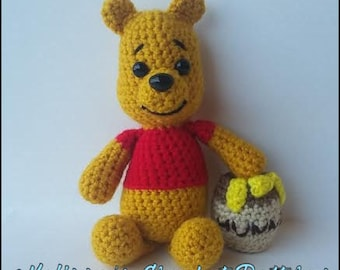 Crochet Pattern - Winnie the Pooh and his Hunny Pot