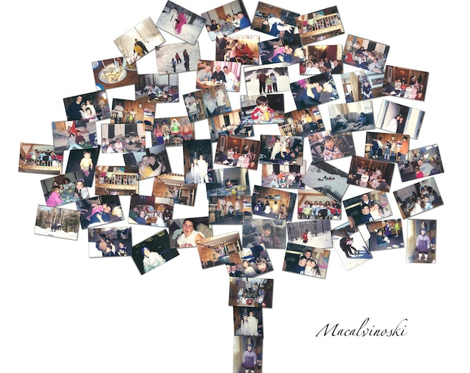 Family Tree Sign Family Tree Wall Art Family Tree Template Family Tree Maker Wall Family Tree Wall Hanging Mosaic Collage Picture Gift 16x20