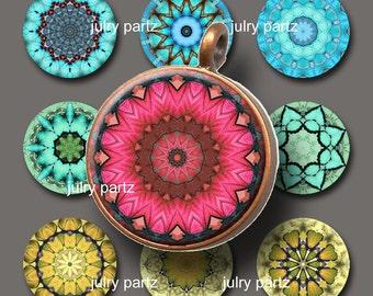 Chakras 1x1 Circle,Printable Digital Image,Digital Collage,Mandala,Magnets,Gift Tags,Scrabble Tiles,Yoga, Meditation
