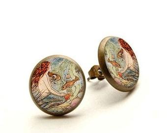 Fairytale Mermaid earrings, Little Mermaid jewelry, fairy tale earrings, Hypoallergenic Earrings for Sensitive Ears