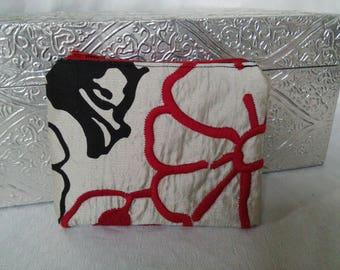 Red Black Silver Zippie Pouch