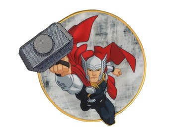 Thor Iron On Applique, Genuine Marvel Iron On Patch, Thor Patch, Thor Applique, Superhero Applique, Kids Patch, Embroidered Patch