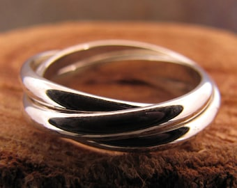 Silver Rolling Ring, Fidget Ring