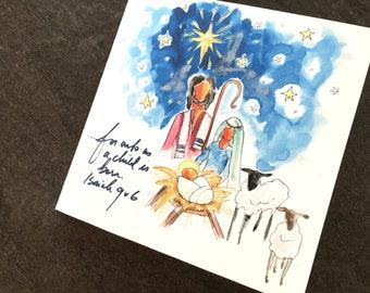 Nativity Christmas Art Card
