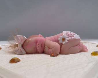 "Polymer Clay Babies ""It's A Girl"" BABY SIZE 2.5"" Gift, Collectible, Keepsake, Memorial, Baby Shower, Cake Topper, Birthday, Loss of a Child"