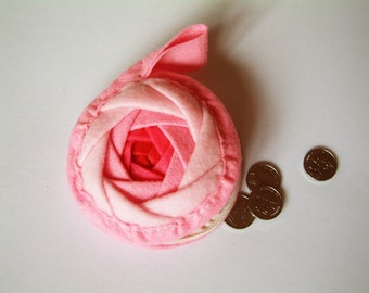Easy sewing-Rose coin purse PDF pattern-H01