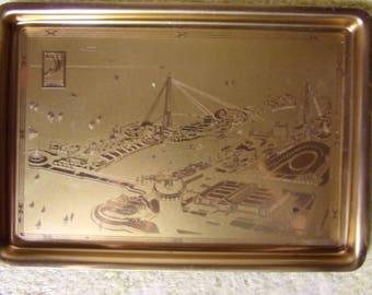 1933 A Century of Progress Chicago World's Fair Brass Tray