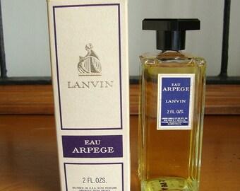 Vintage Lanvin Eau Arpege Perfume 2 ounces NIOB