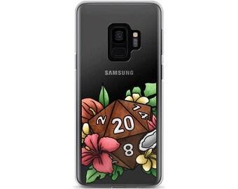 Tropical D20 Samsung Case - D&D Tabletop Gaming