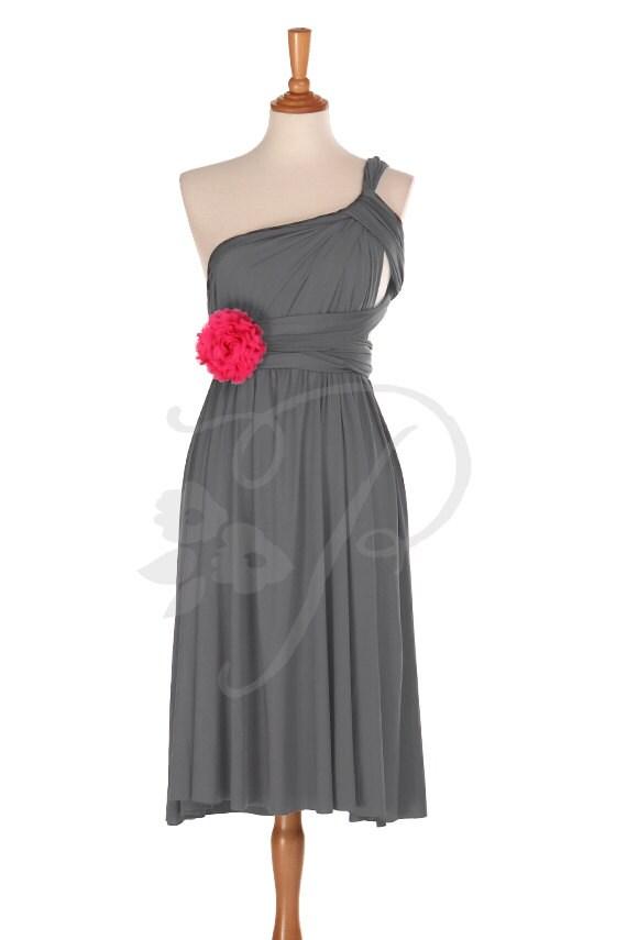 Kurzer gerader Saum Brautjungfer Kleid Infinity Kleid