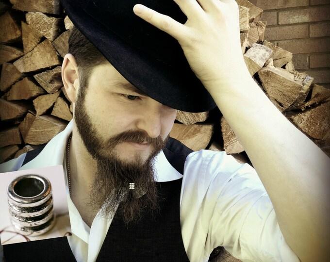 Featured listing image: Beard Beading KIT 'Hale' TIBETAN ALLOY beard rings viking beard bead dwarf beard beads beard style beard care beard accessories beard kit
