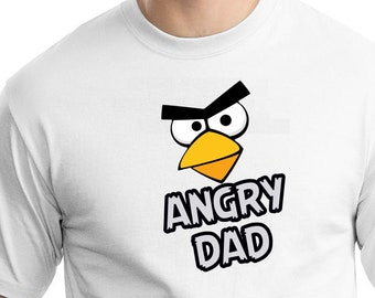 Angry Birds , Iron On Transfer , Angry Birds Daddy , Daddy Birthday Shirt Design , Angry Birds Printable , Instant Download