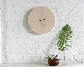 Medium Clock - Whitewashed Ash