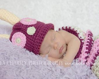 Pink Newborn Caterpillar Photo Prop Costume